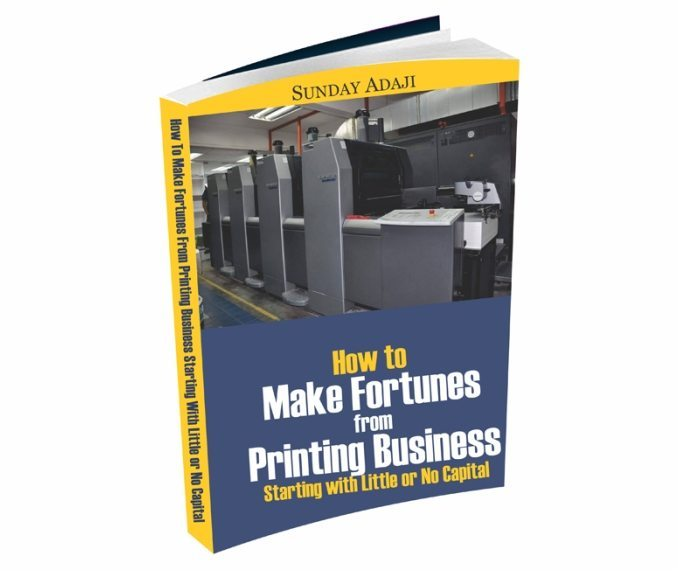 How To Make Fortunes From Printing Business eCover